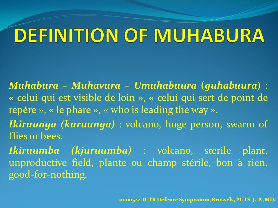 DEFINITION OF MUHABURA