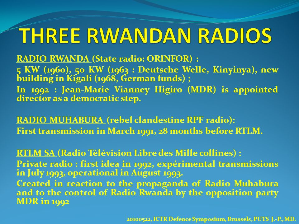 THREE RWANDAN RADIOS RADIO RWANDA (State radio: ORINFOR) :