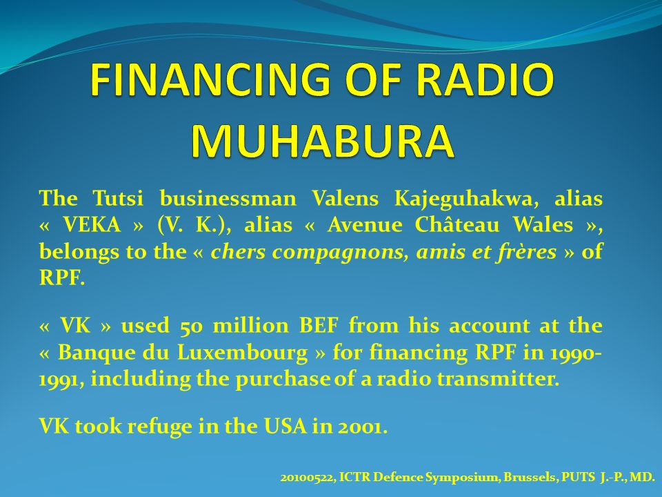 FINANCING OF RADIO MUHABURA