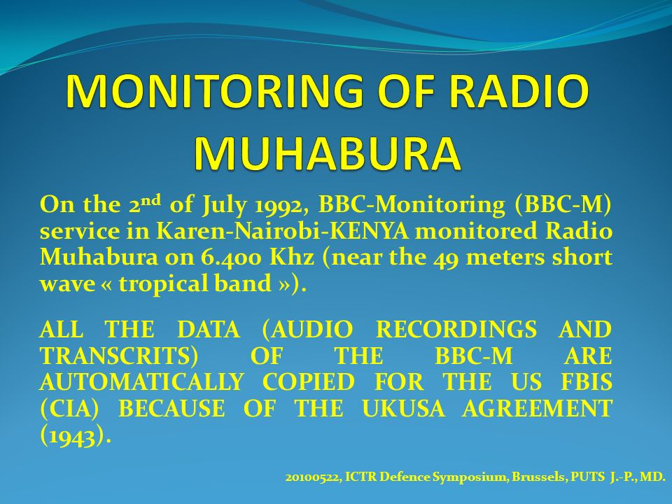 MONITORING OF RADIO MUHABURA