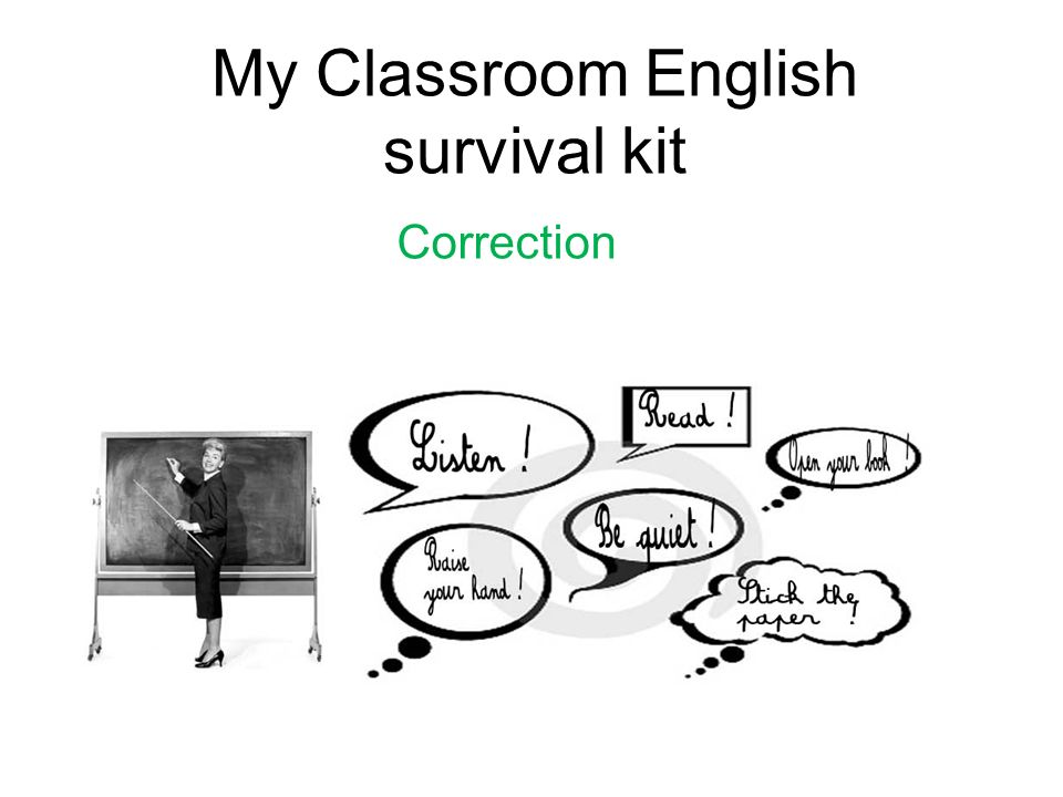 My Classroom English survival kit