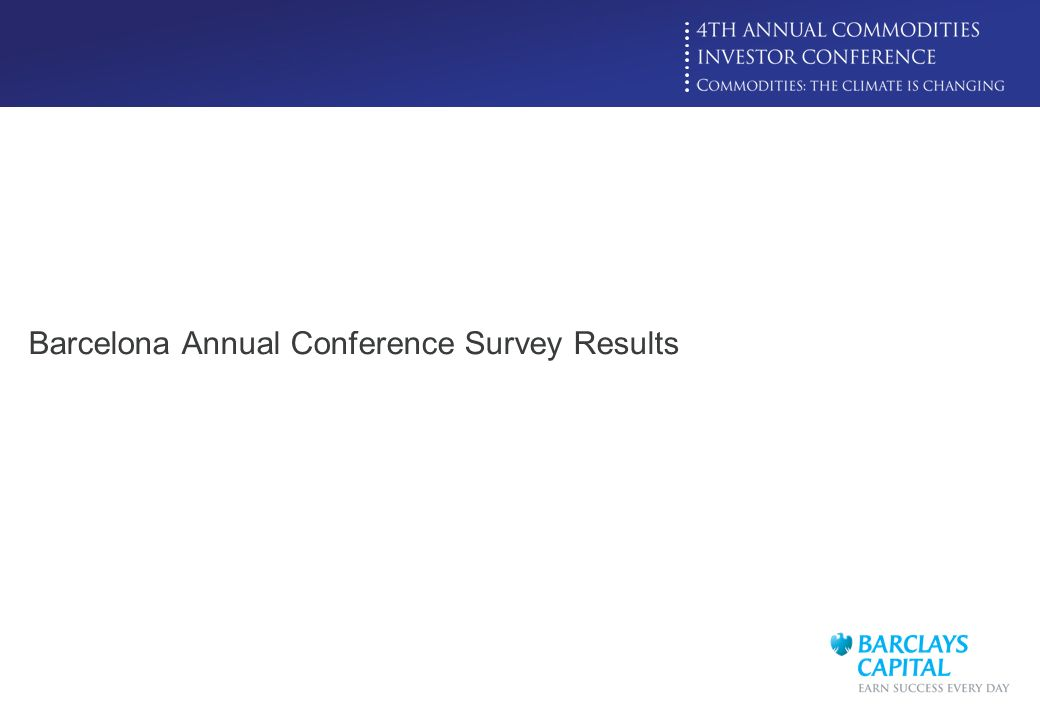 Barcelona Annual Conference Survey Results