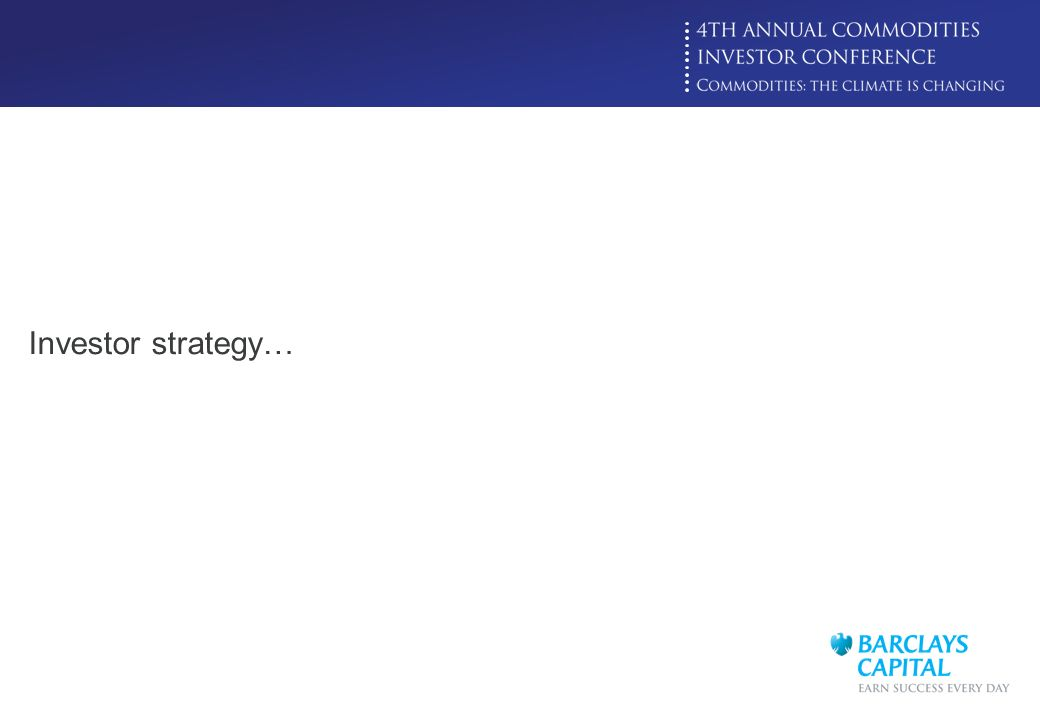 Investor strategy…