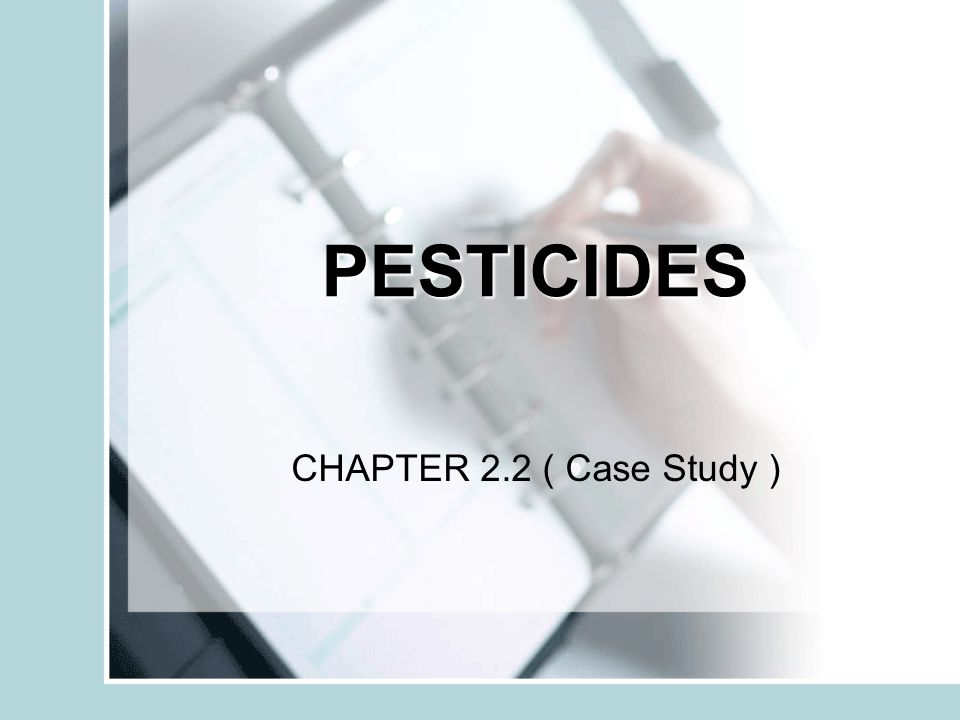 DDT Be Banned | Case Study Template