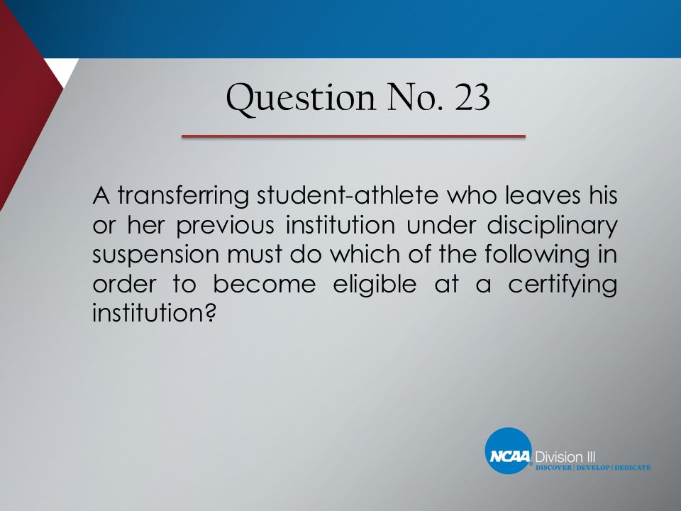 Question No. 23