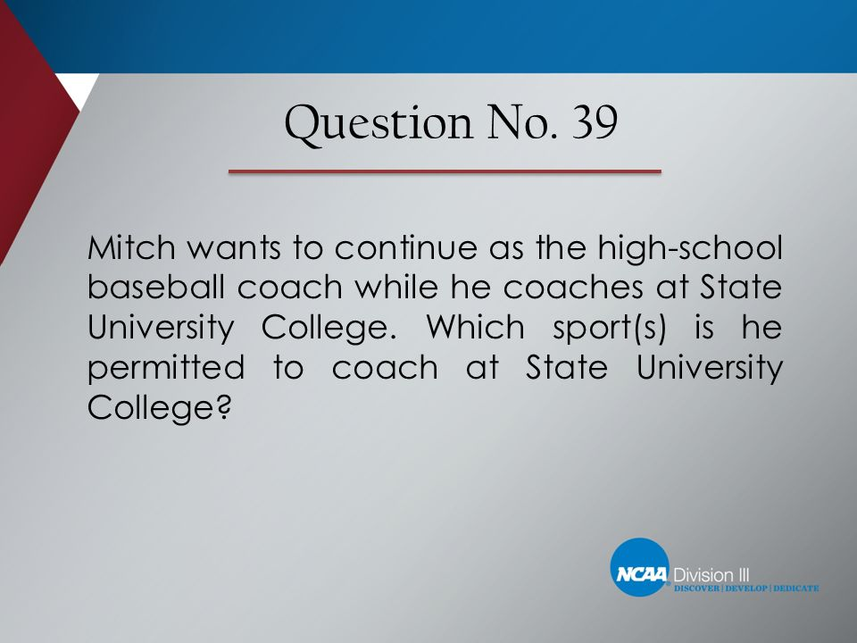 Question No. 39