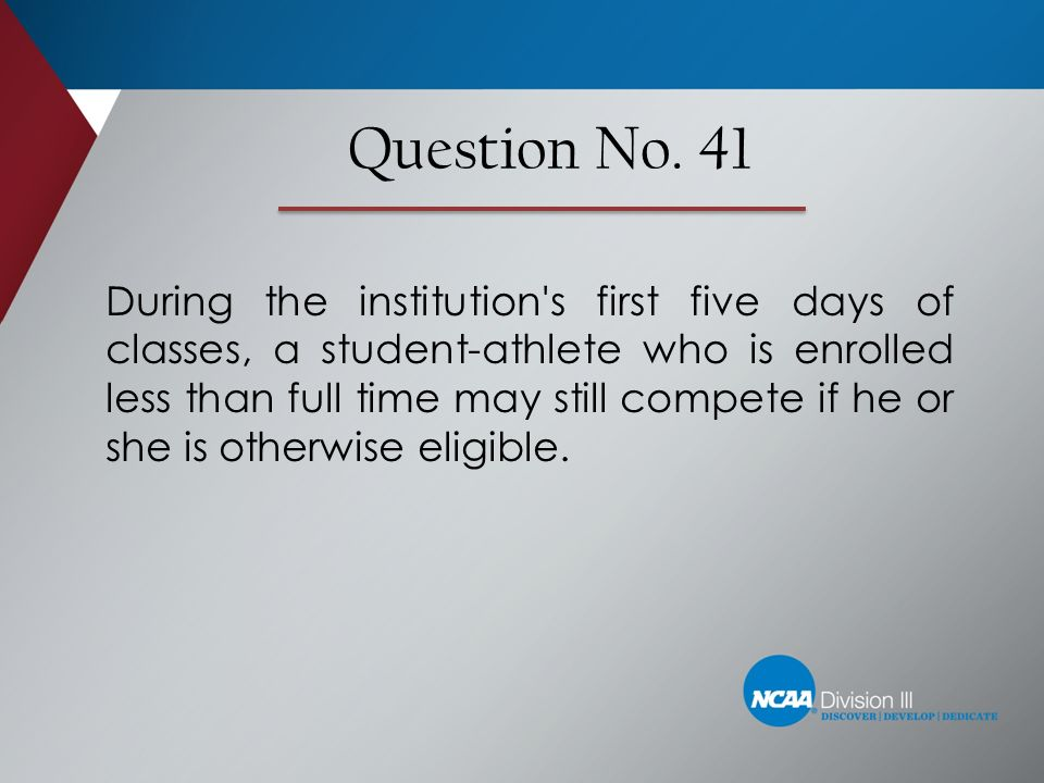 Question No. 41