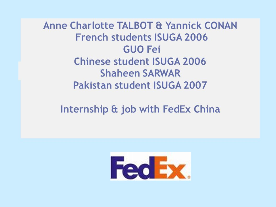 Anne Charlotte TALBOT & Yannick CONAN French students ISUGA 2006