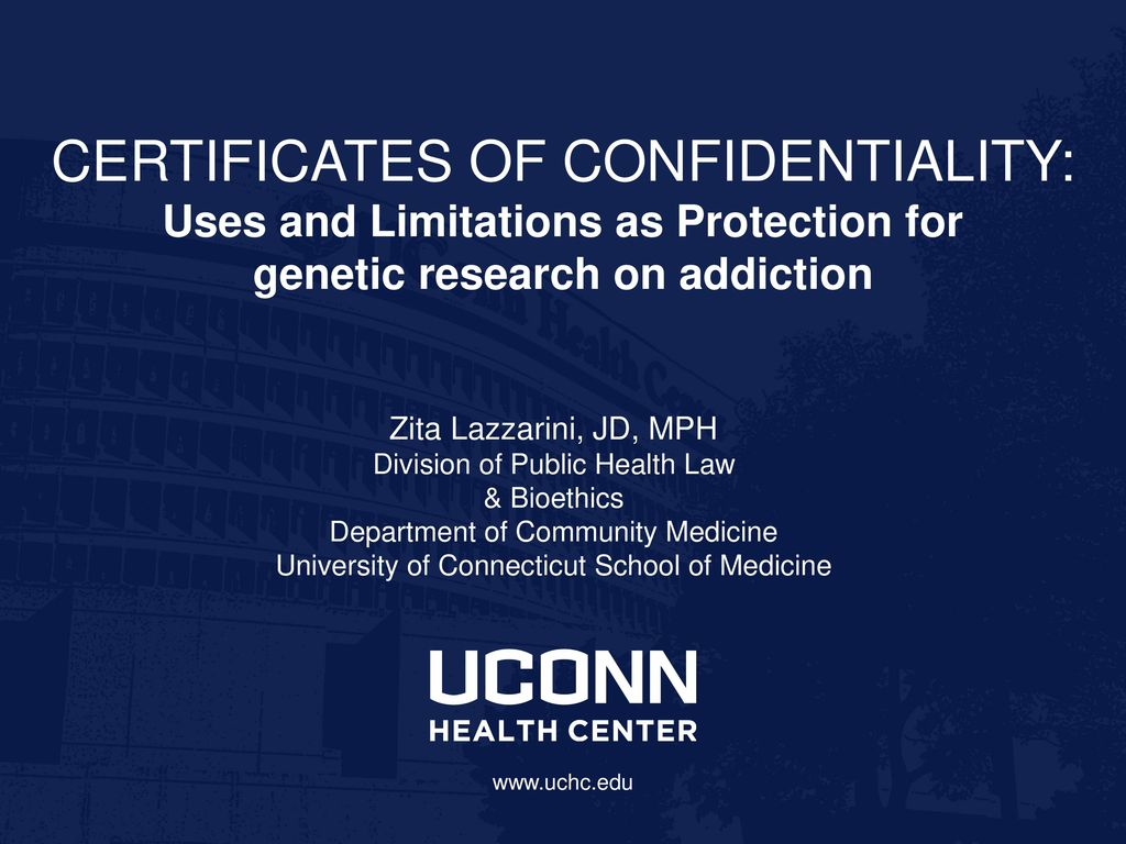 Nothing certificates of confidentiality uses and limitations as nothing certificates of confidentiality uses and limitations as protection for genetic research on addiction xflitez Image collections