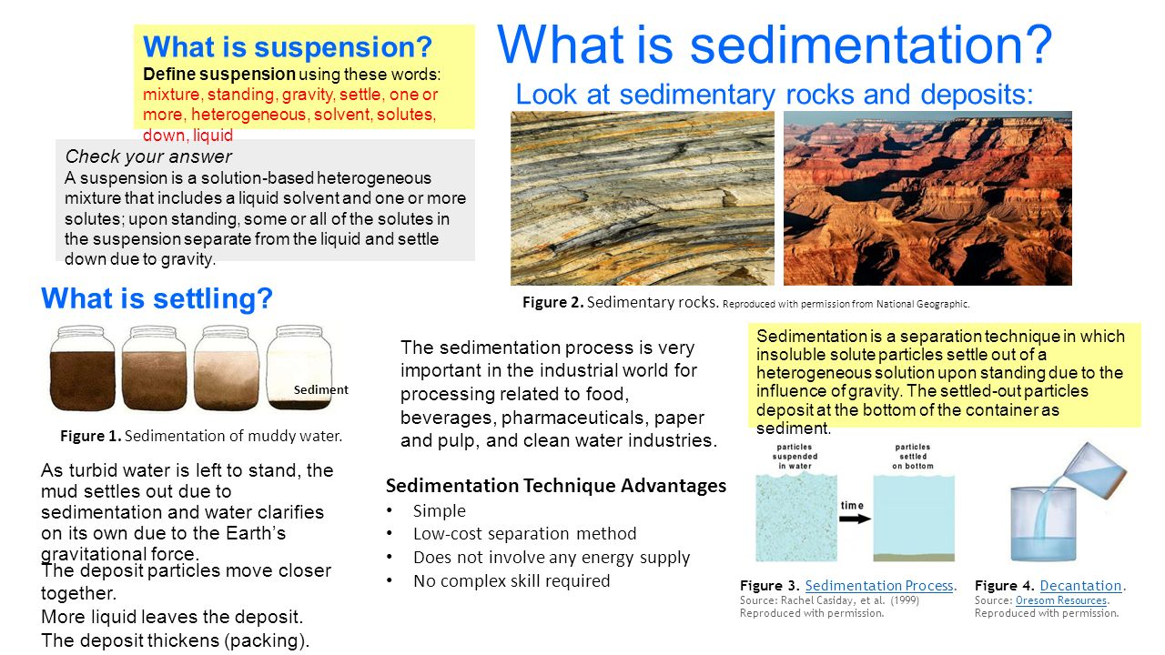sedimentation course pack Sedimentation and flocculation has  what is needed, of course  sedimentation in flocculating colloidal suspensions.
