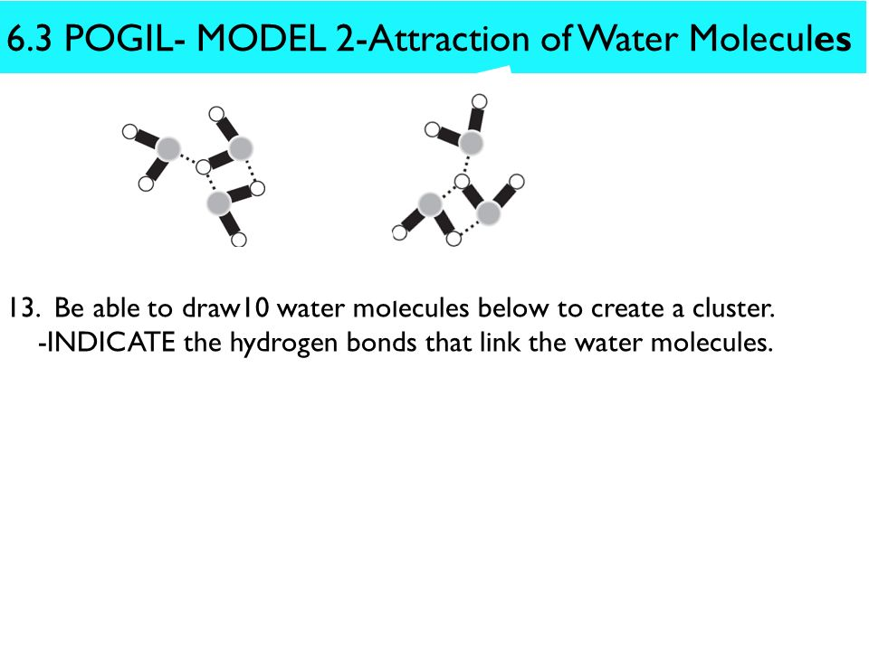 how to draw a water molecule