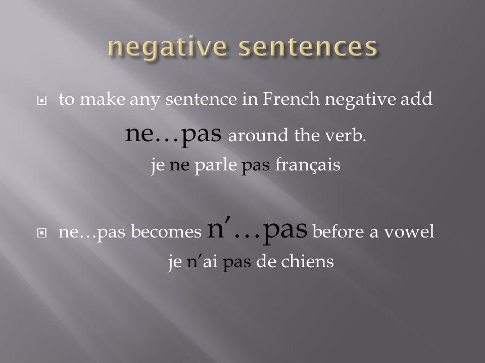 je ne parle pas français
