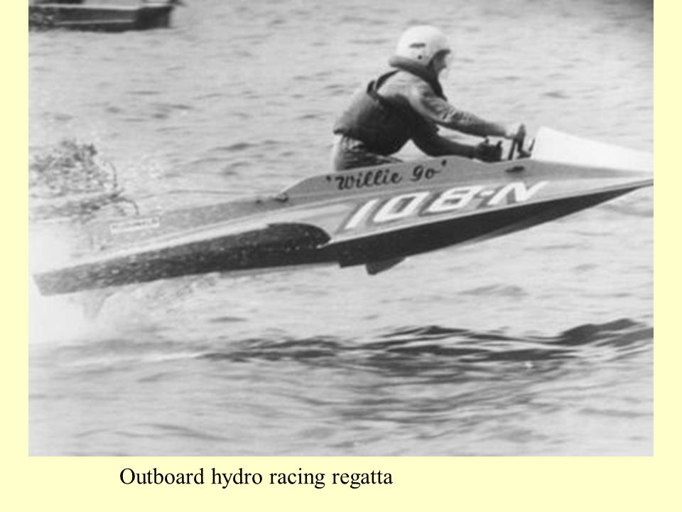 Outboard hydro racing regatta