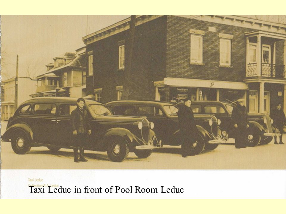 Taxi Leduc in front of Pool Room Leduc