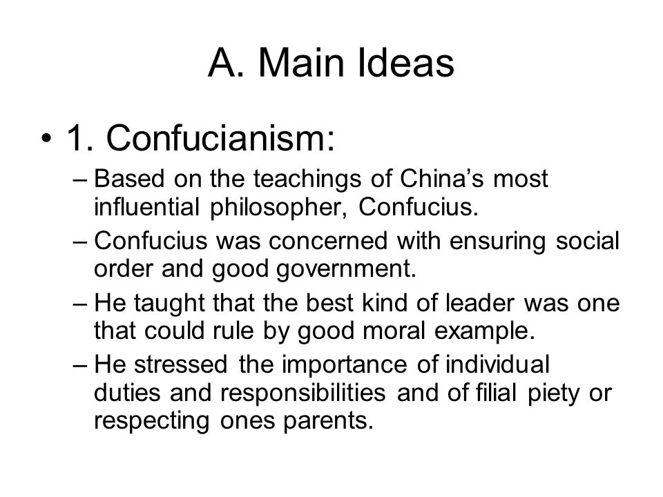 the idea of confucianism The concept of self in confucian thought d klemme barrytown, ny august, 1999 this is derived from a paper presented to dr d carlson confucianism class at uts.