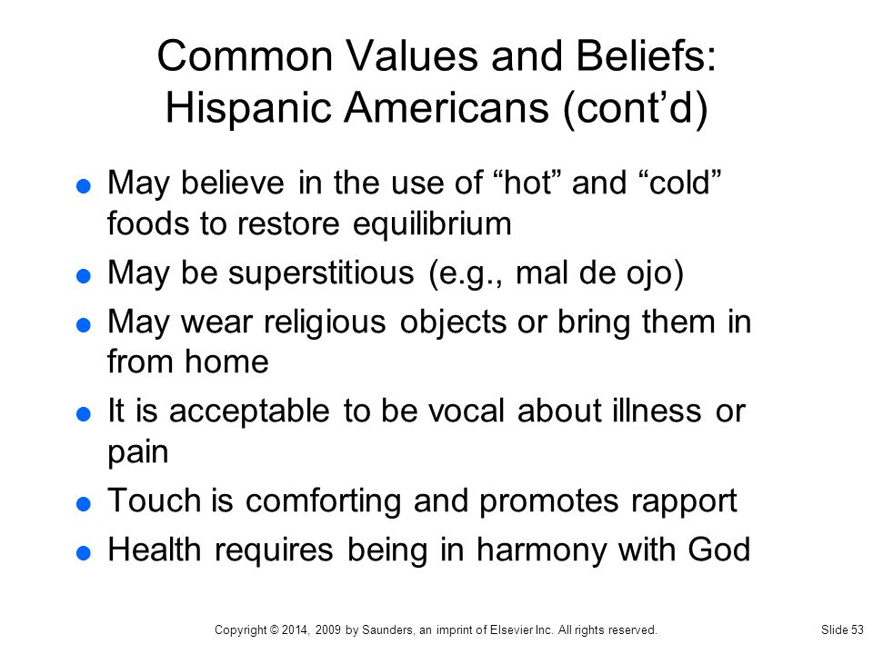 hispanic cultural values and beliefs of hispanics Understanding cultural aspects of the hispanic culture slideshare uses cookies to improve functionality and performance, and to provide you with relevant advertising if you continue browsing the site, you agree to the use of cookies on this website.