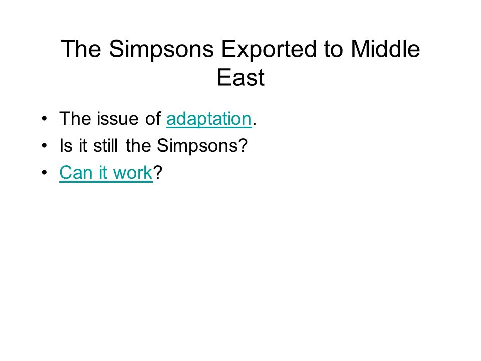 The Simpsons Exported to Middle East