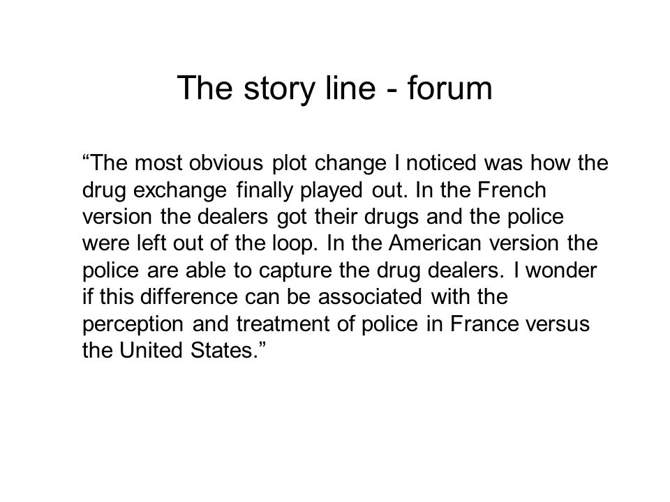 The story line - forum