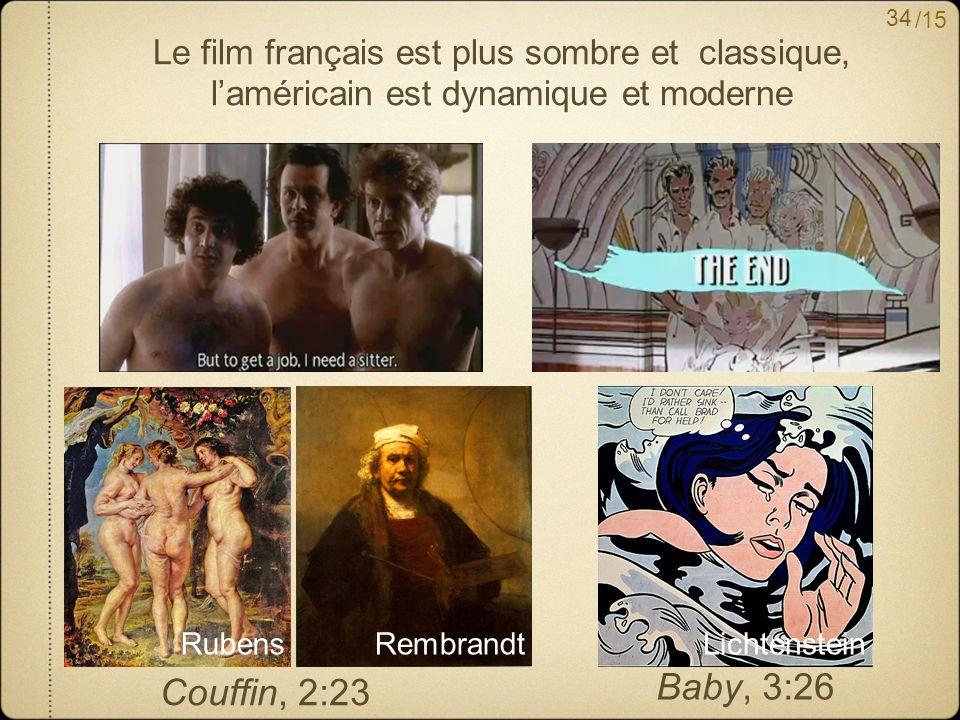 Le film français est plus sombre et classique, l'américain est dynamique et moderne