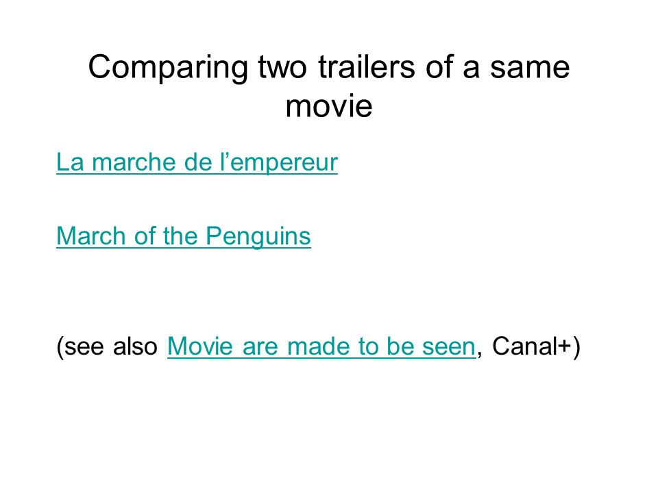Comparing two trailers of a same movie
