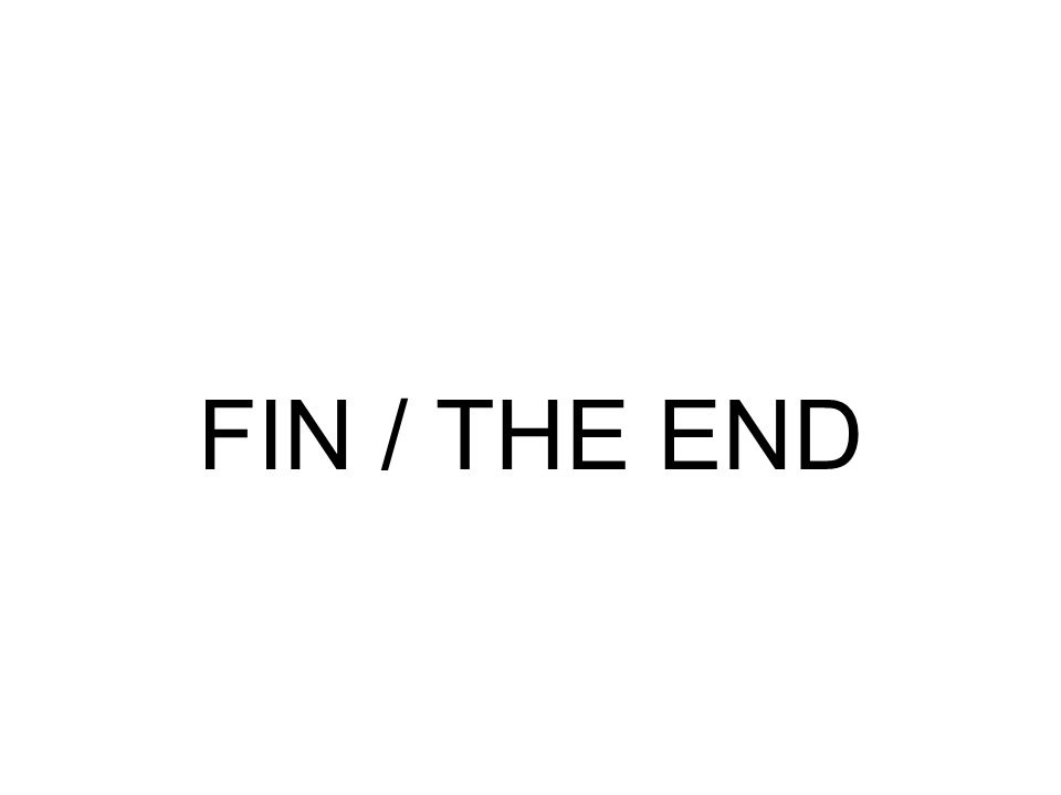 FIN / THE END