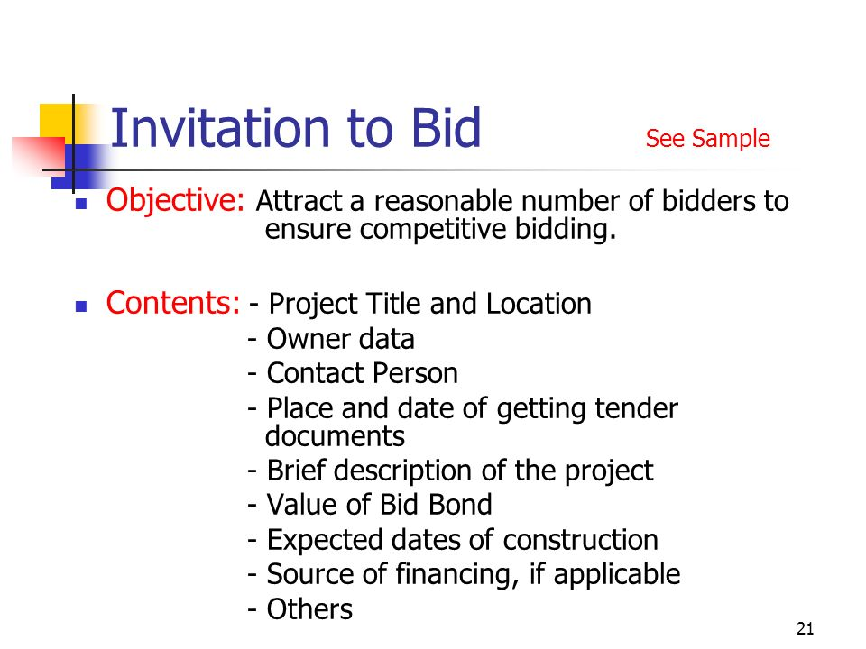 Fidic tendering procedures ppt video online download 21 invitation to bid see sample stopboris Images