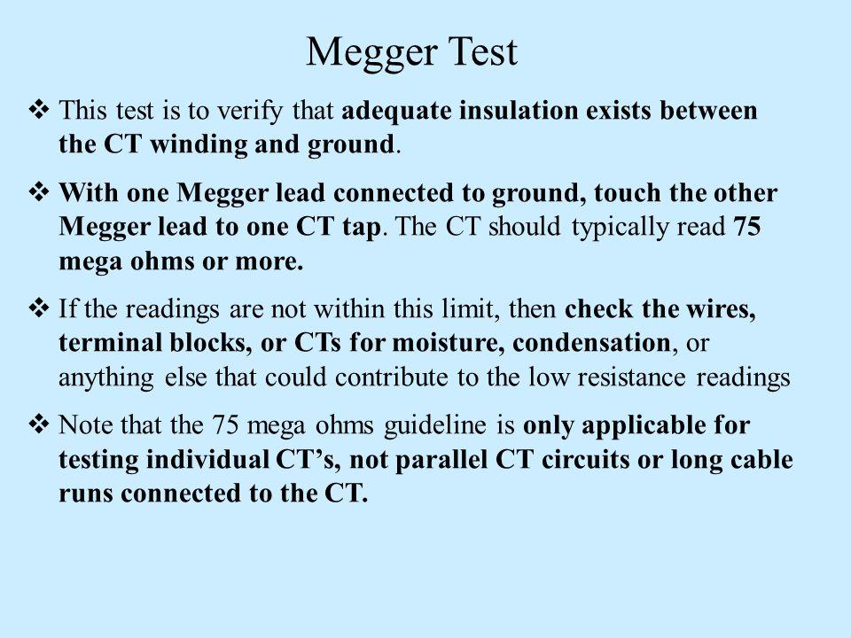 Megger test of electric motor for Loudon motors in alliance ohio