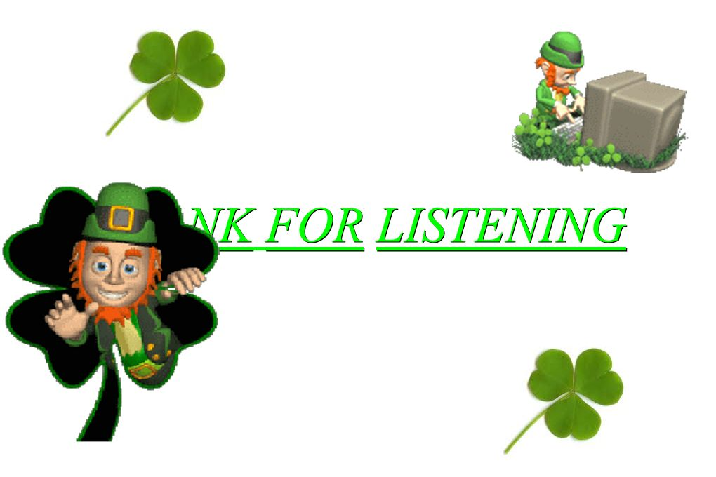 THANK FOR LISTENING