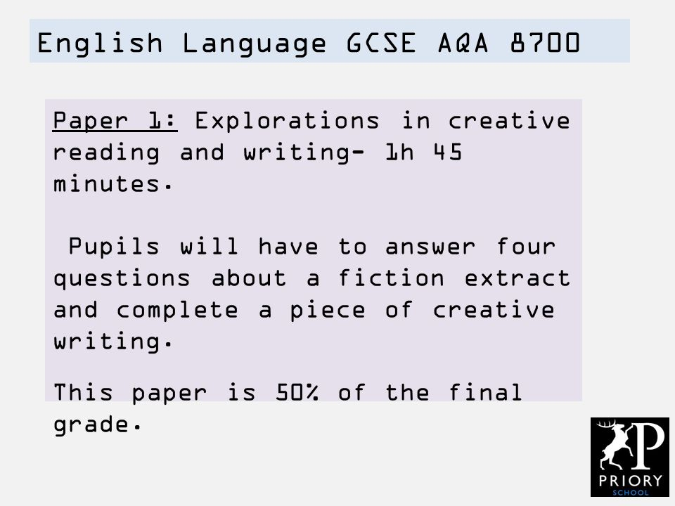 english papers gcse aqa Mr salles shows us all the tricks you need to know to get a grade 8 or 9 in gcse english language here's how to revise for english language gcse (aqa) exam.