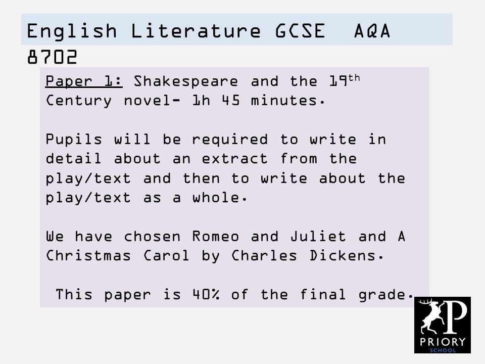 english papers gcse aqa Offer your students the right level of challenge with collins aqa gcse english language and english literature resources how is the course structured.