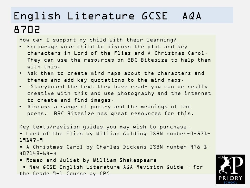 aqa english literature coursework percentage Hi i dont know what spec i do so if you can please write down the percentage of coursework  percentage of gcse coursework in aqa literature  english literature.