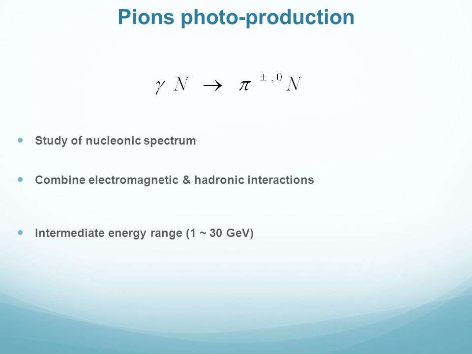 Pions photo-production