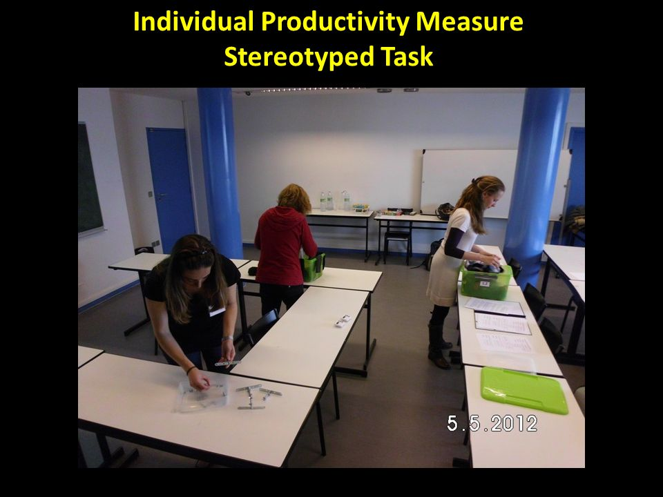 Individual Productivity Measure Stereotyped Task