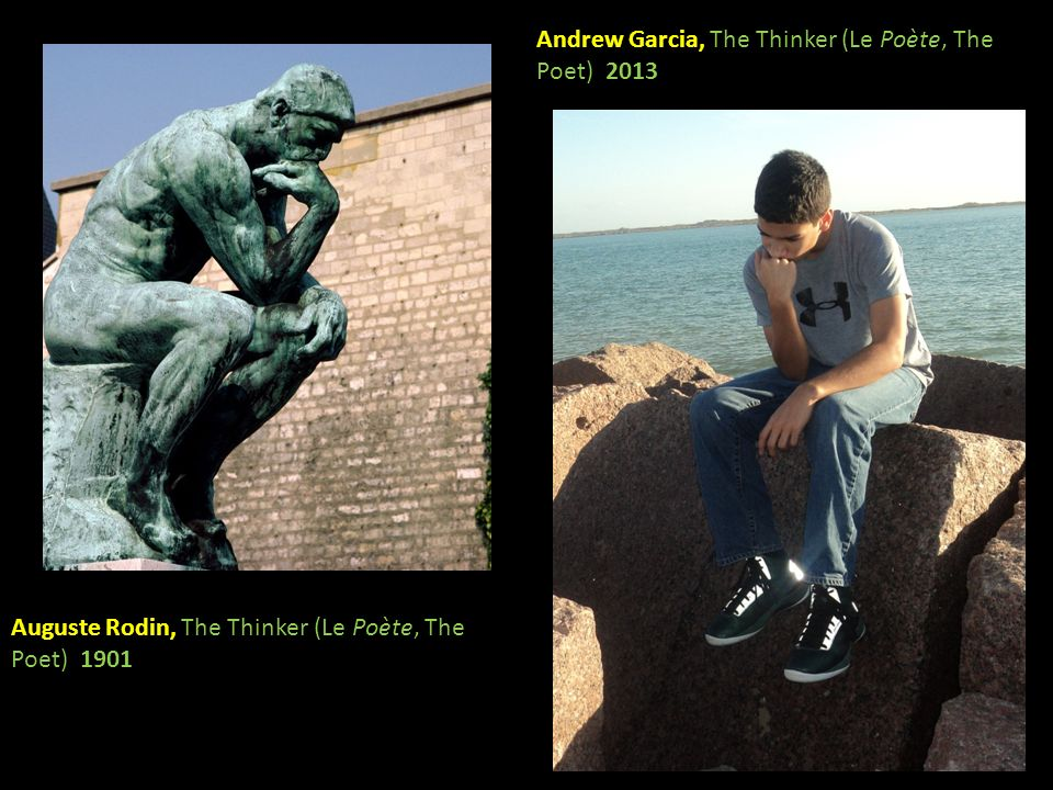 Andrew Garcia, The Thinker (Le Poète, The Poet) 2013