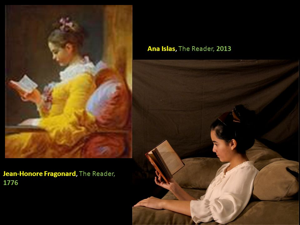 Ana Islas, The Reader, 2013 Jean-Honore Fragonard, The Reader, 1776