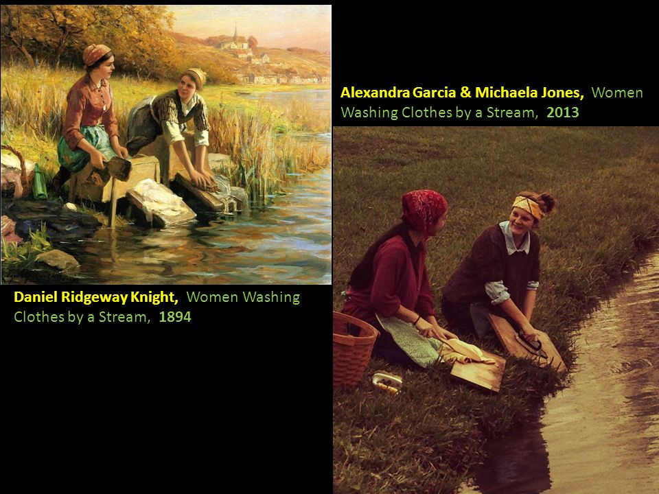 Alexandra Garcia & Michaela Jones, Women Washing Clothes by a Stream, 2013