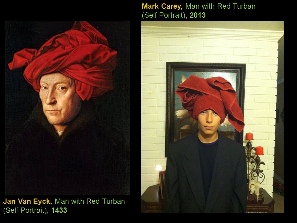 Mark Carey, Man with Red Turban (Self Portrait), 2013