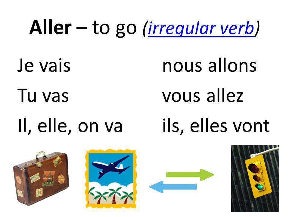 Aller – to go (irregular verb)