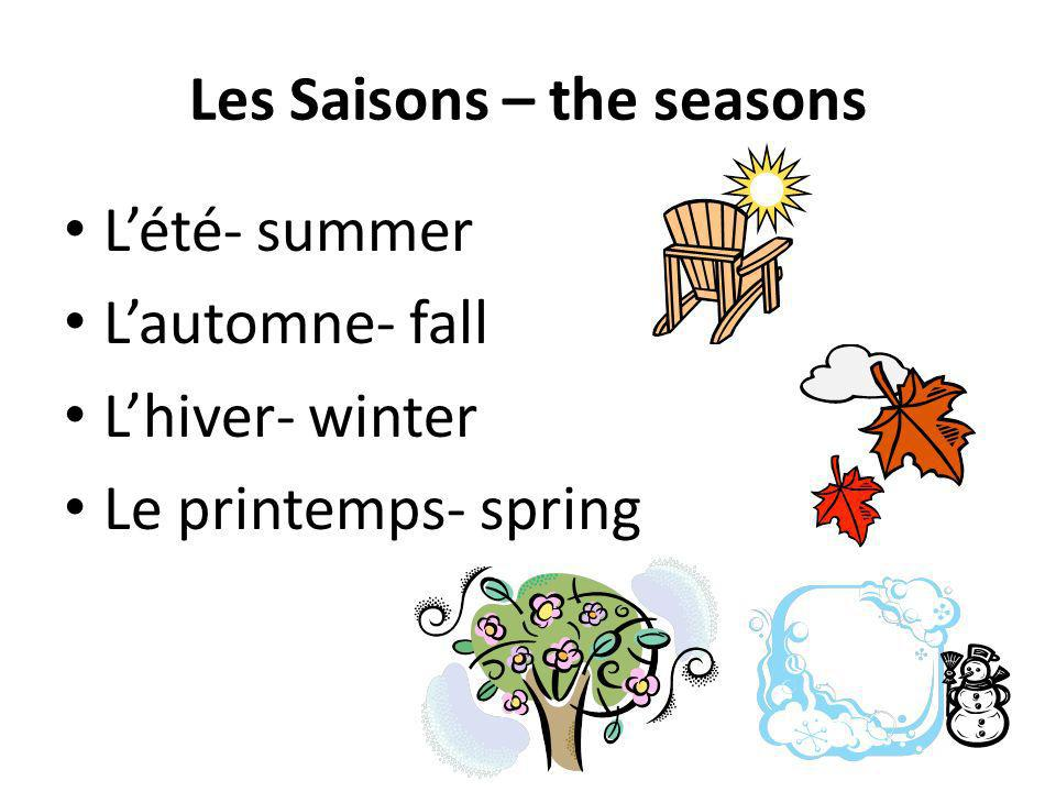 Les Saisons – the seasons