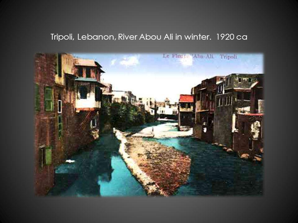 Tripoli, Lebanon, River Abou Ali in winter. 1920 ca