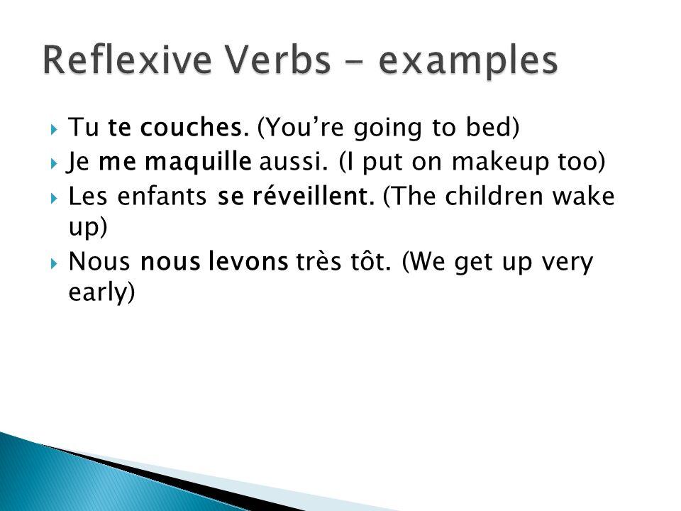 Reflexive Verbs - examples