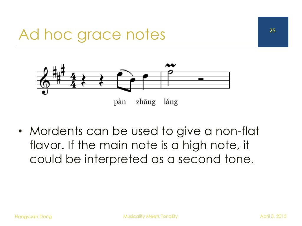 note and tone
