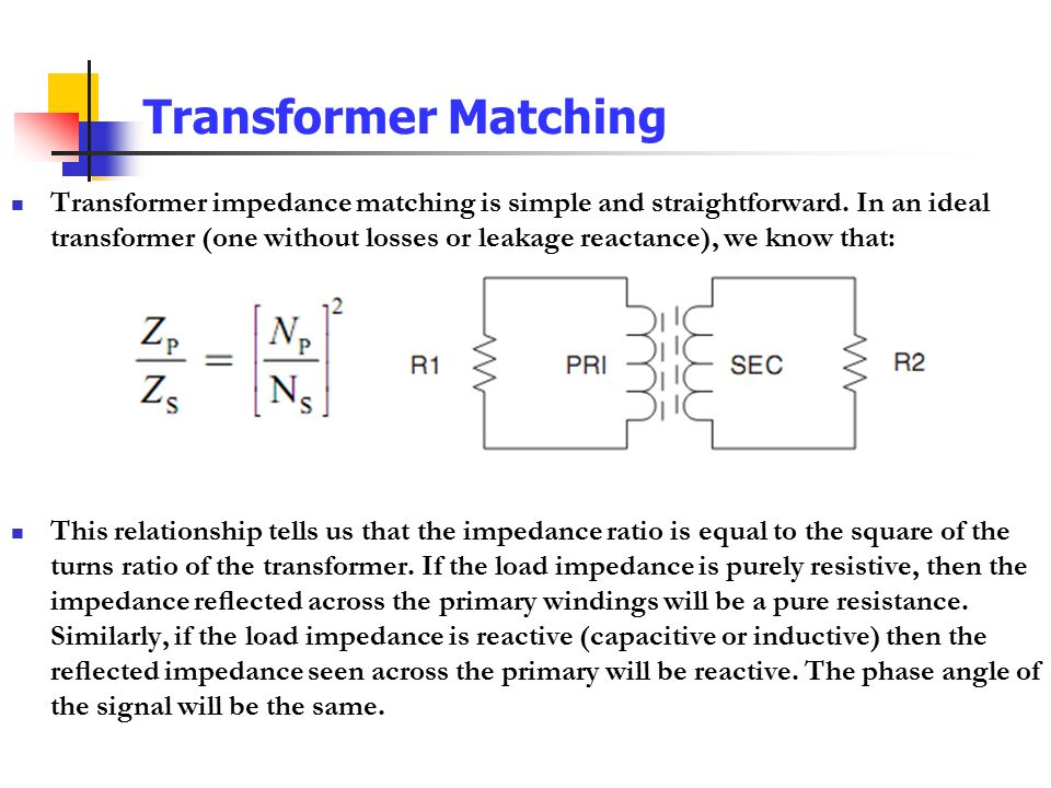how to make a matching transformer