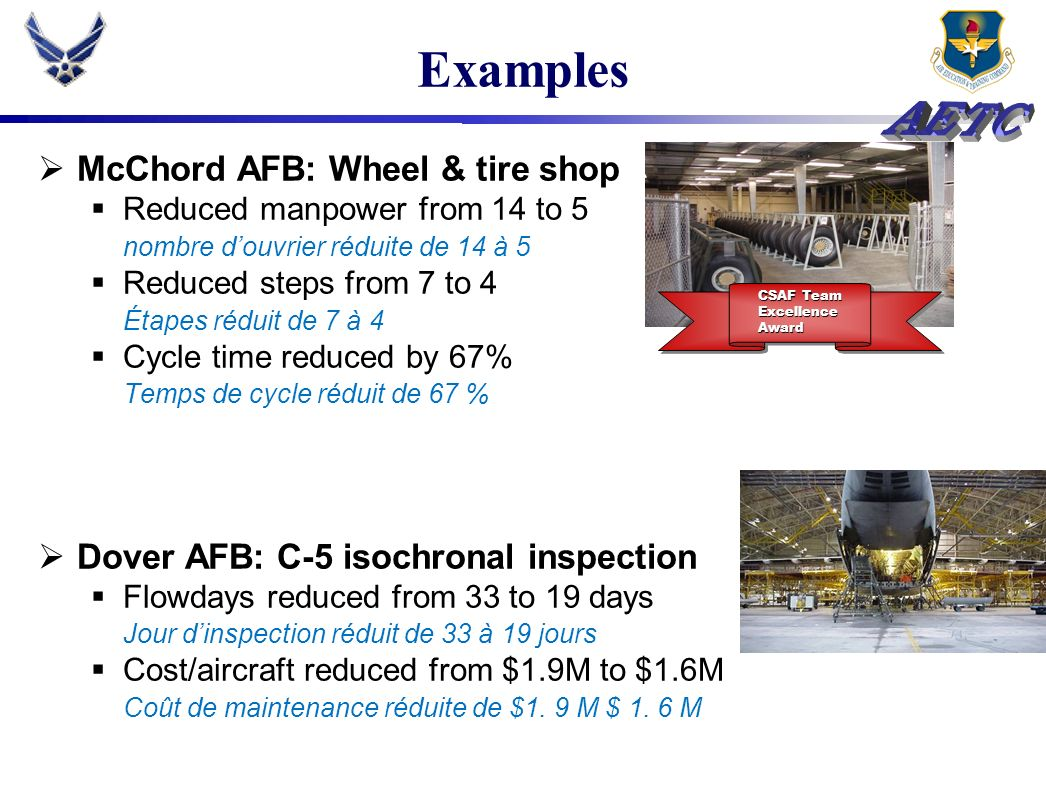 Examples McChord AFB: Wheel & tire shop