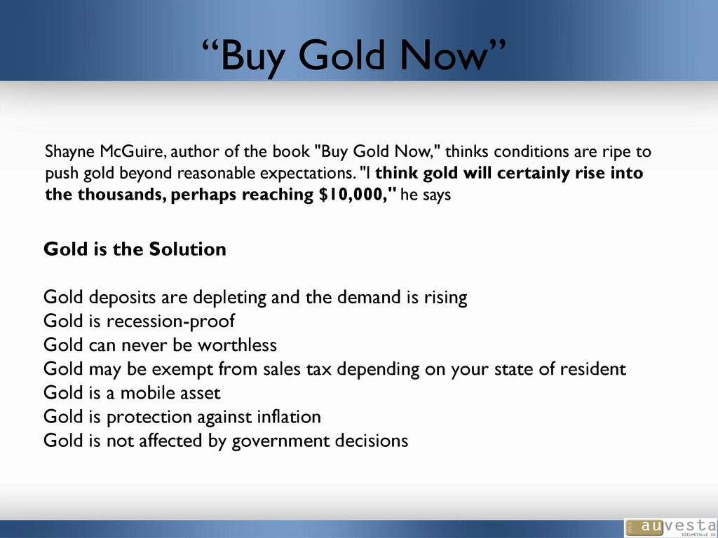 How to buy gold now - Buy Gold Now