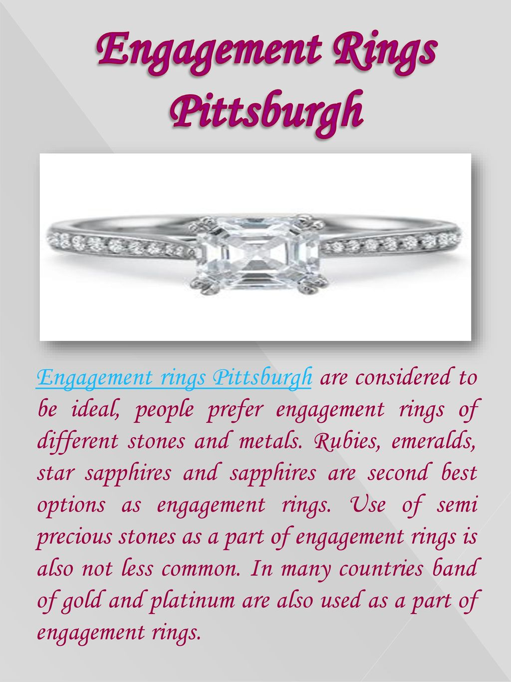 Engagement Rings Pittsburgh