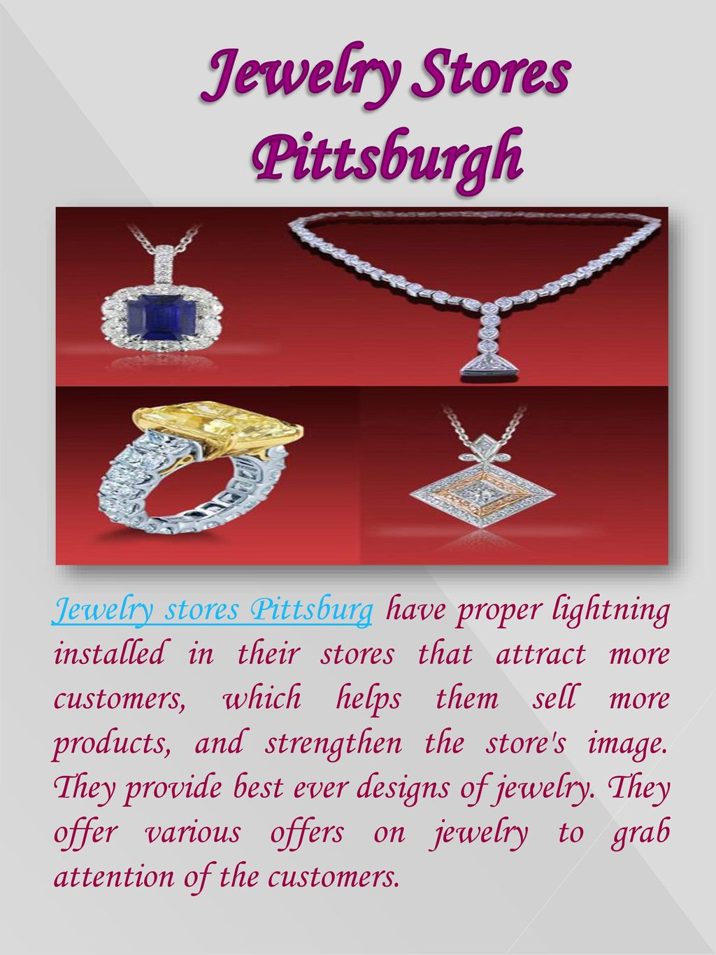 Jewelry Stores Pittsburgh