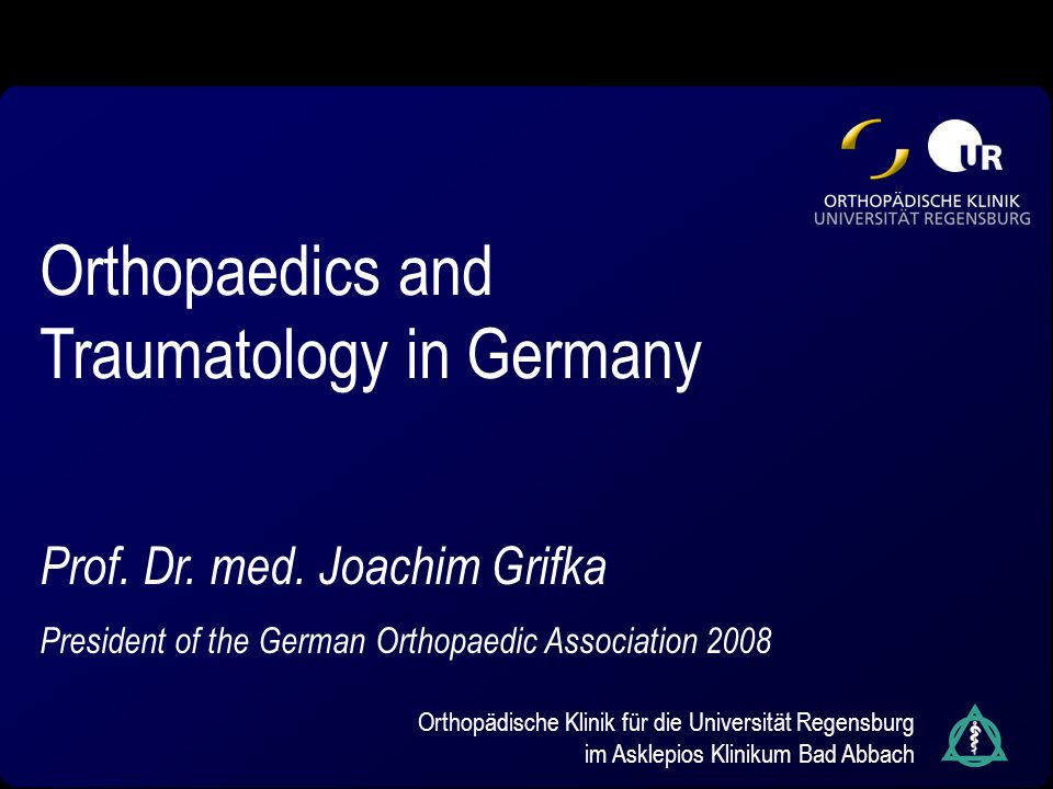 Orthopaedics and Traumatology in Germany