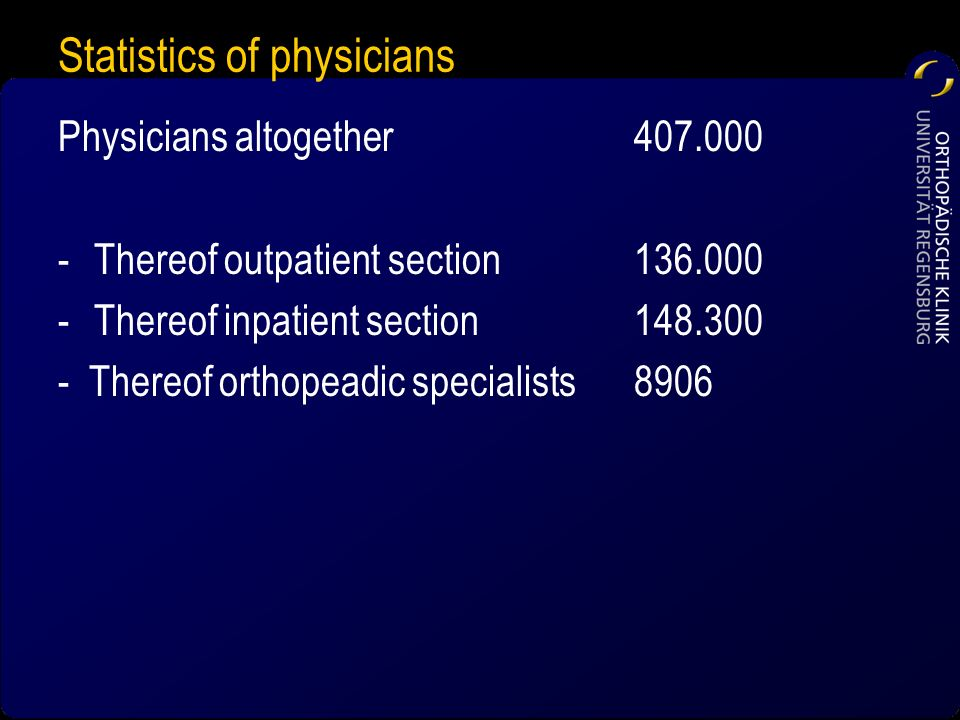 Statistics of physicians