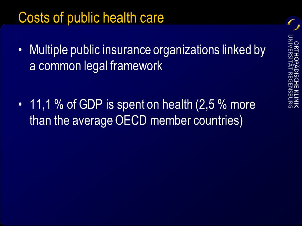 Costs of public health care